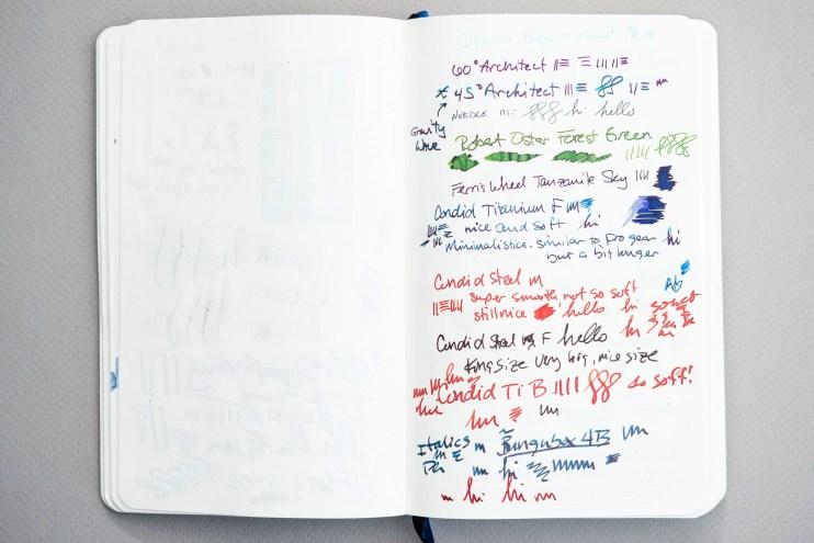 Fountain Pen Fun Notebook pen testing