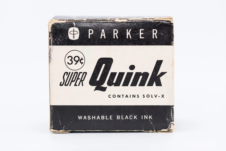 Identifying Vintage Fountain Pen Ink Bottles and Boxes super quink