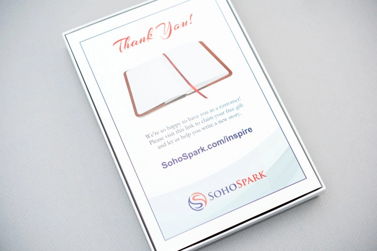 SohoSpark Journal Review info card
