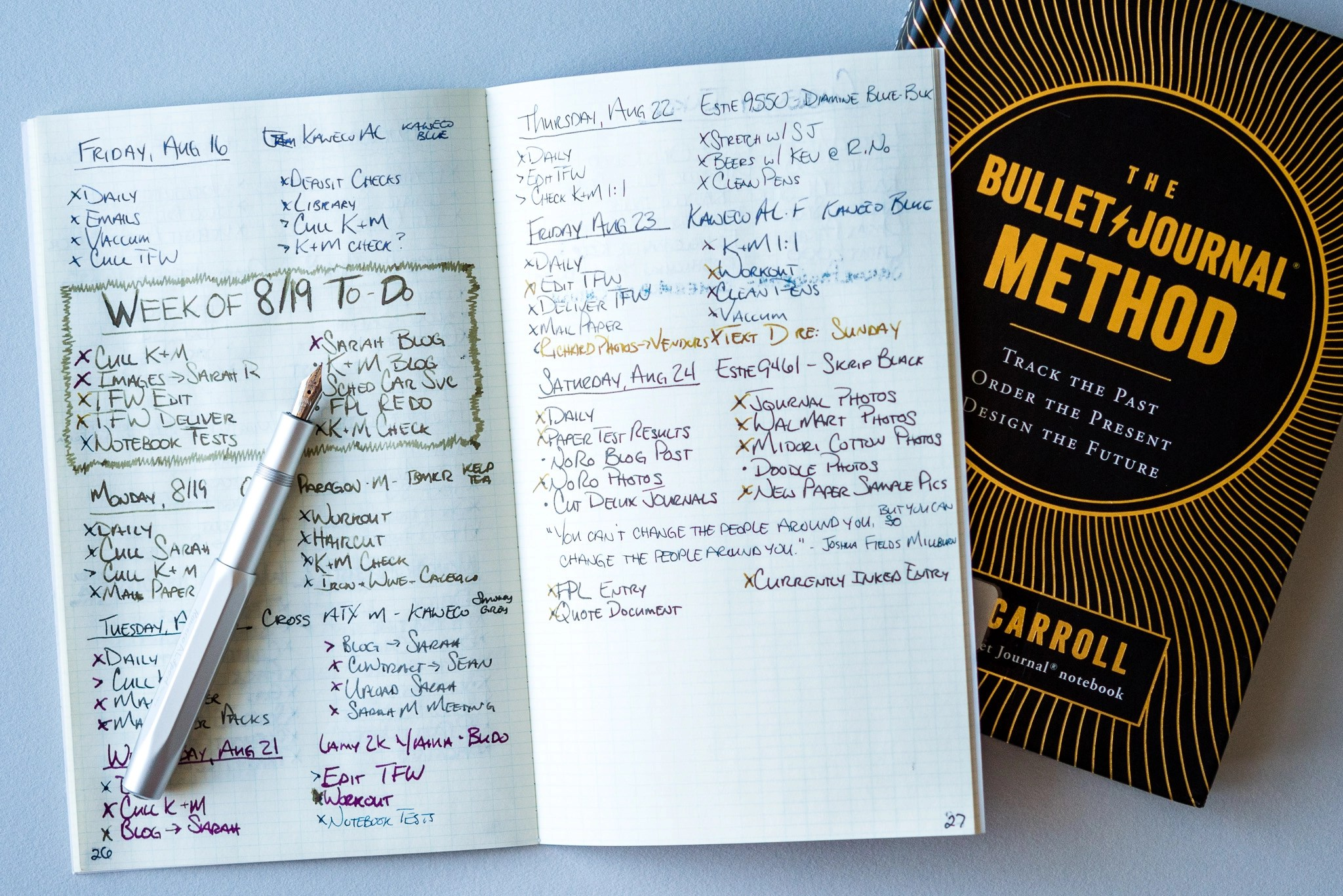 Quick Book Review - The Bullet Journal Method - Fountain Pen Love