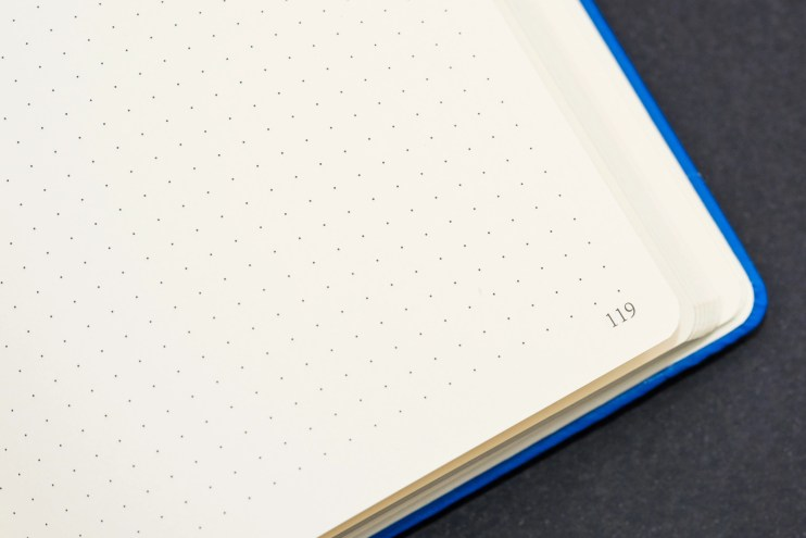 Exceed 100gsm A5 Bullet Journal page numbers