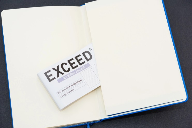 Exceed 100gsm A5 Bullet Journal rear pocket