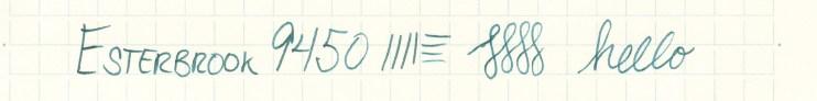 Esterbrook nib writing sample 9450