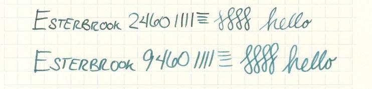 Esterbrook nib writing sample 9460