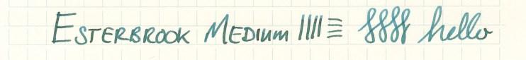 Esterbrook nib writing sample Medium