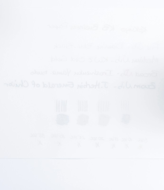kokuyo kb paper ghosting