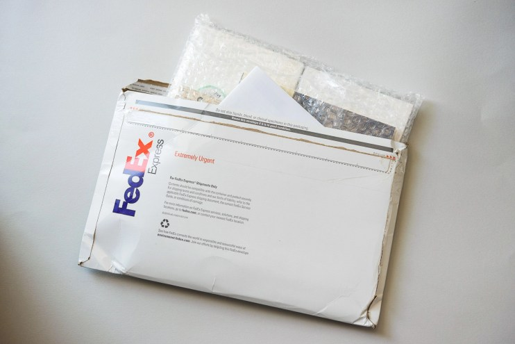 Jet Pens shipping envelope
