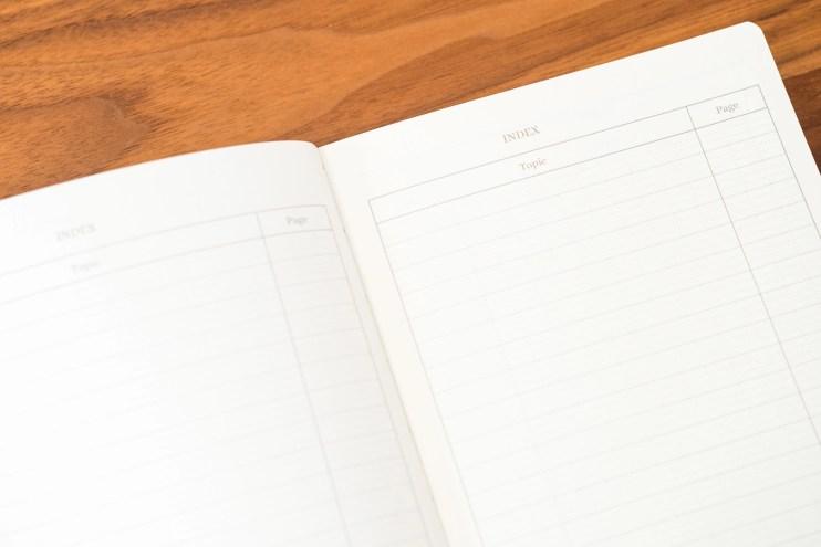 Profolio Oasis Summit Notebook Index