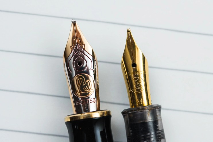 choosing a fountain pen nib for beginners pelikan m800 m200