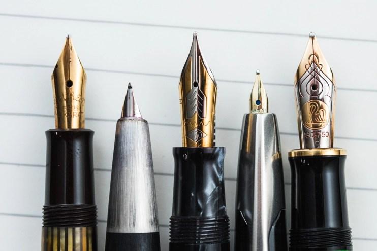choosing a fountain pen nib for beginners gold nibs