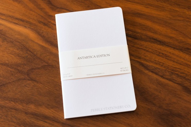 Pebble Stationery Antartica Notebook cover