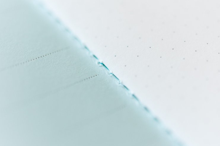 Pebble Stationery Antartica Notebook stitch binding