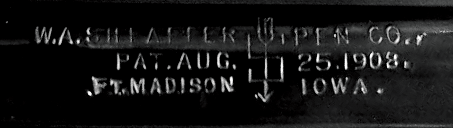 Sheaffer 1908-1912 Imprint