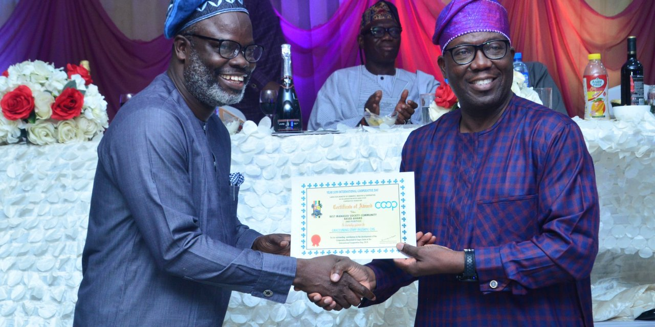 Grace Springs Cooperative and Multipurpose Society Bags Best Managed Society Award