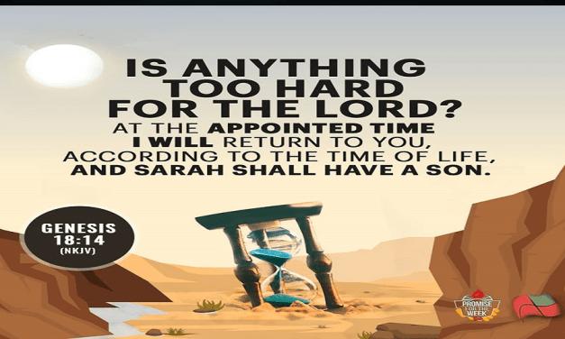 Promise for the Week – Genesis 18:14