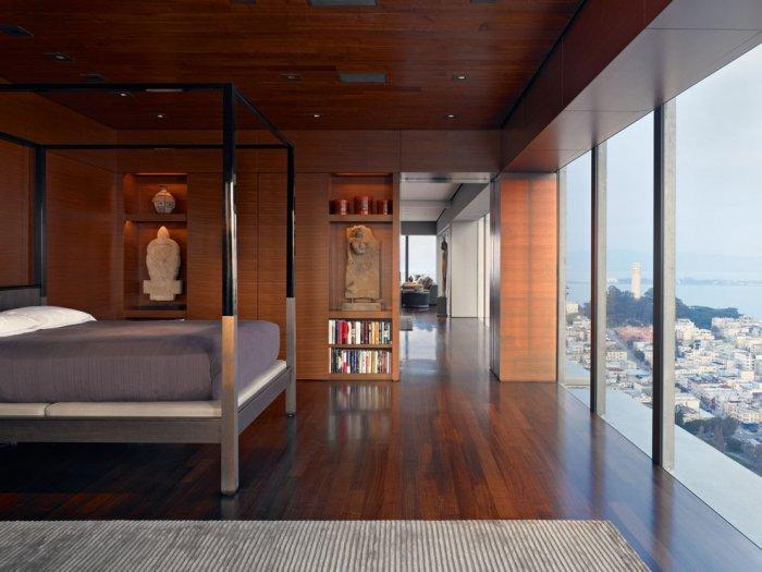Luxurious High Rise Interior With Skyline View Founterior