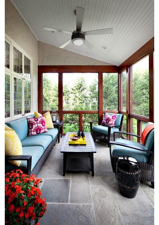 Enclosed Front Porch And After
