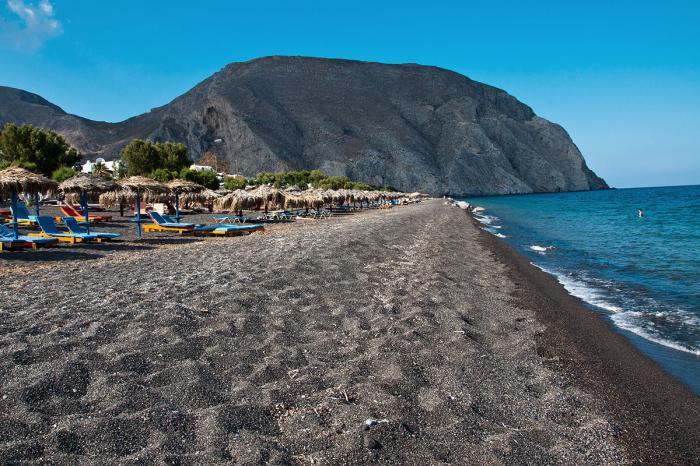 Интересные места острова Санторини - пляж Перисса