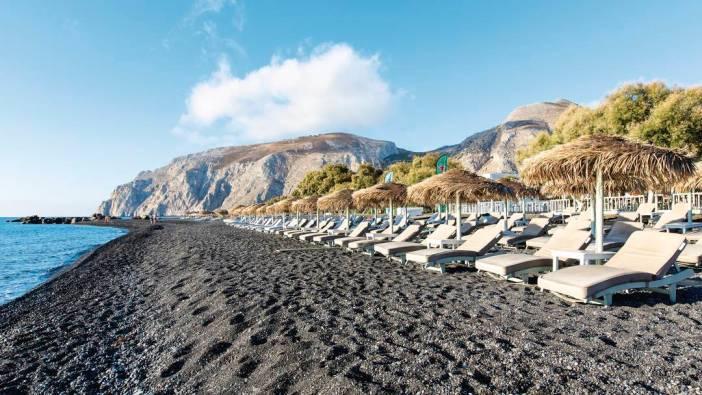 Достопримечательности о. Санторини - пляж Камари