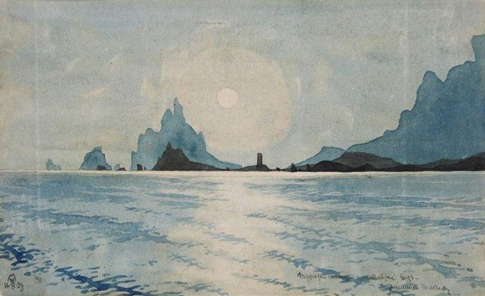 Картина Максимилиана Волошина, Карадаг, Коктебель