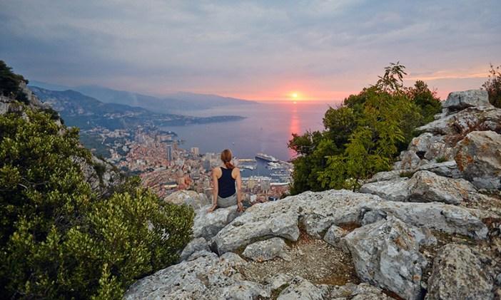 Вид Монако из Ла-Тюрби (Лазурный берег, Франция)