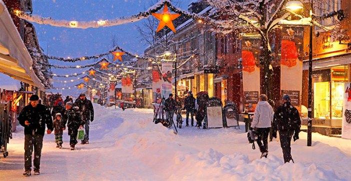 Отдых в Норвегии зимой: город Лиллехаммер