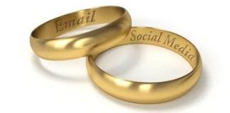 wedding rings email social media