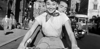 Audrey Hepburn and Gregory Peck Vespa Roman Holiday