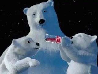 Orsi Polari per coca cola