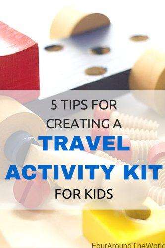 create a travel activity kit for kids