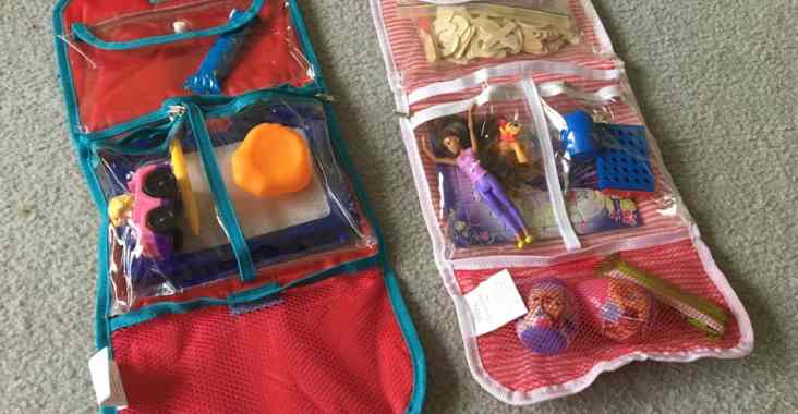 DIY travel activity kits for 1 & 3 year olds