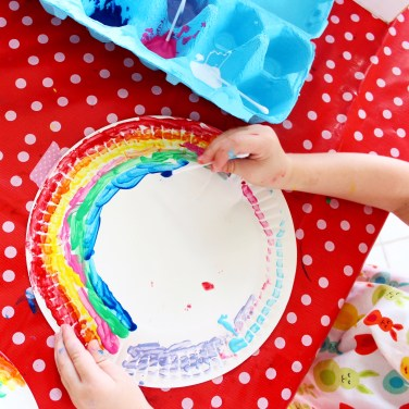 Rainbow paper plate craft ideas