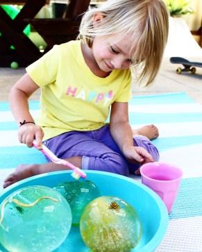 Frozen water play ideas for kids