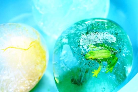 Frozen water play ideas