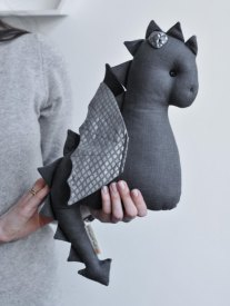 Handmade Dragon Plush Toy - by Sun and Co more on the blog