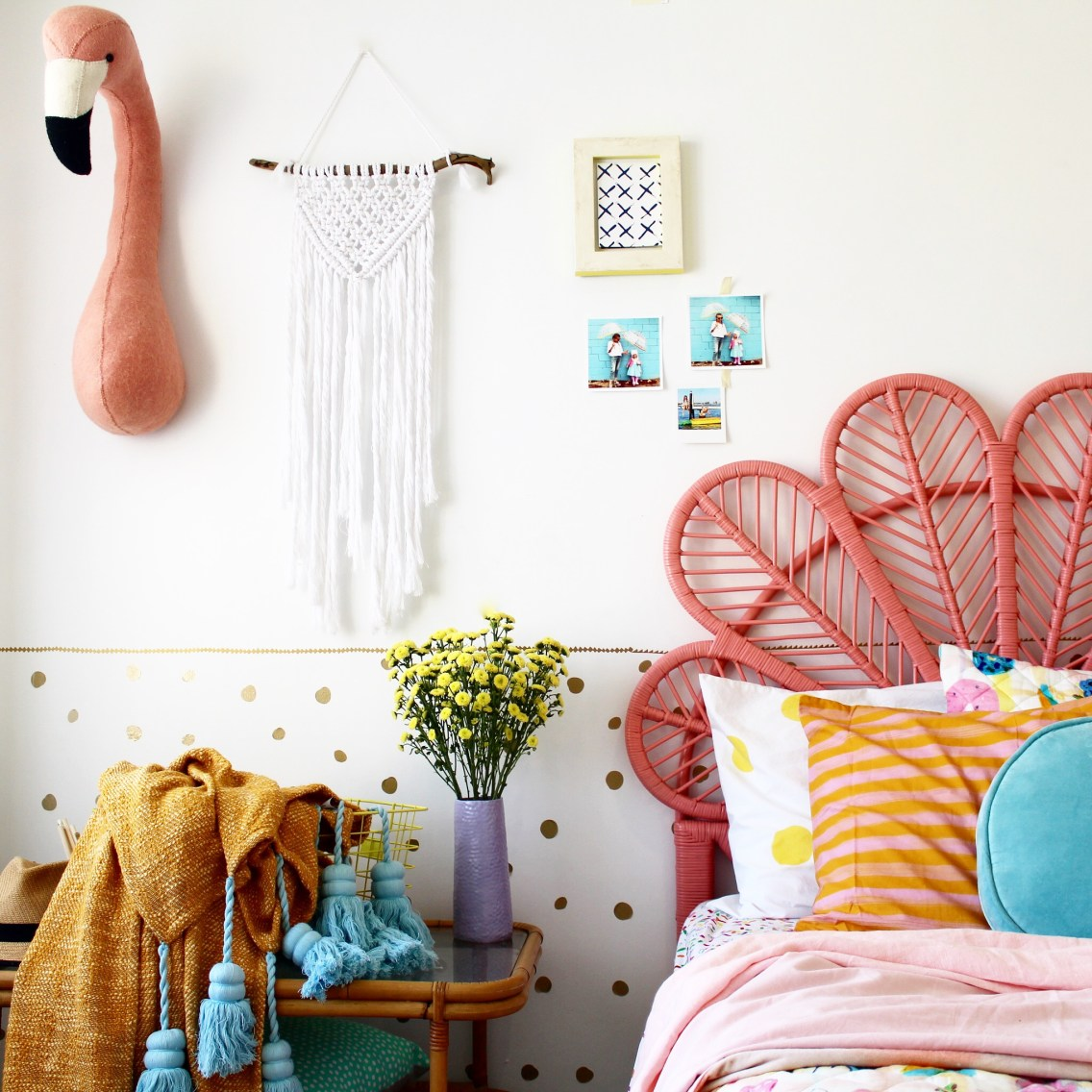 Girls bedroom ideas |kids bedding and decor | modern boho bedroom ideas more on the blog