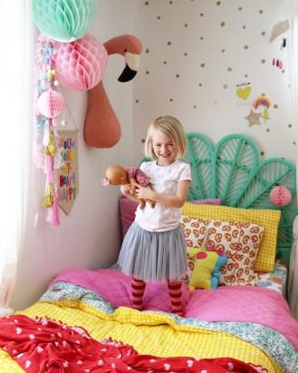 kids bedroom ideas | rainbow room decor for girls, more on the blog