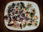 Colorful home-made sushi
