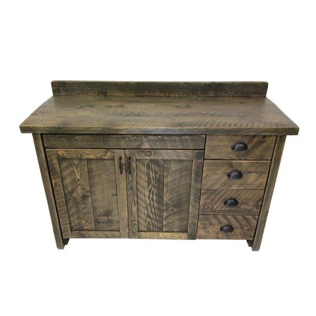 Rustic Wood Bathroom Vanity With Drawers | Four Corner ... on {keyword}