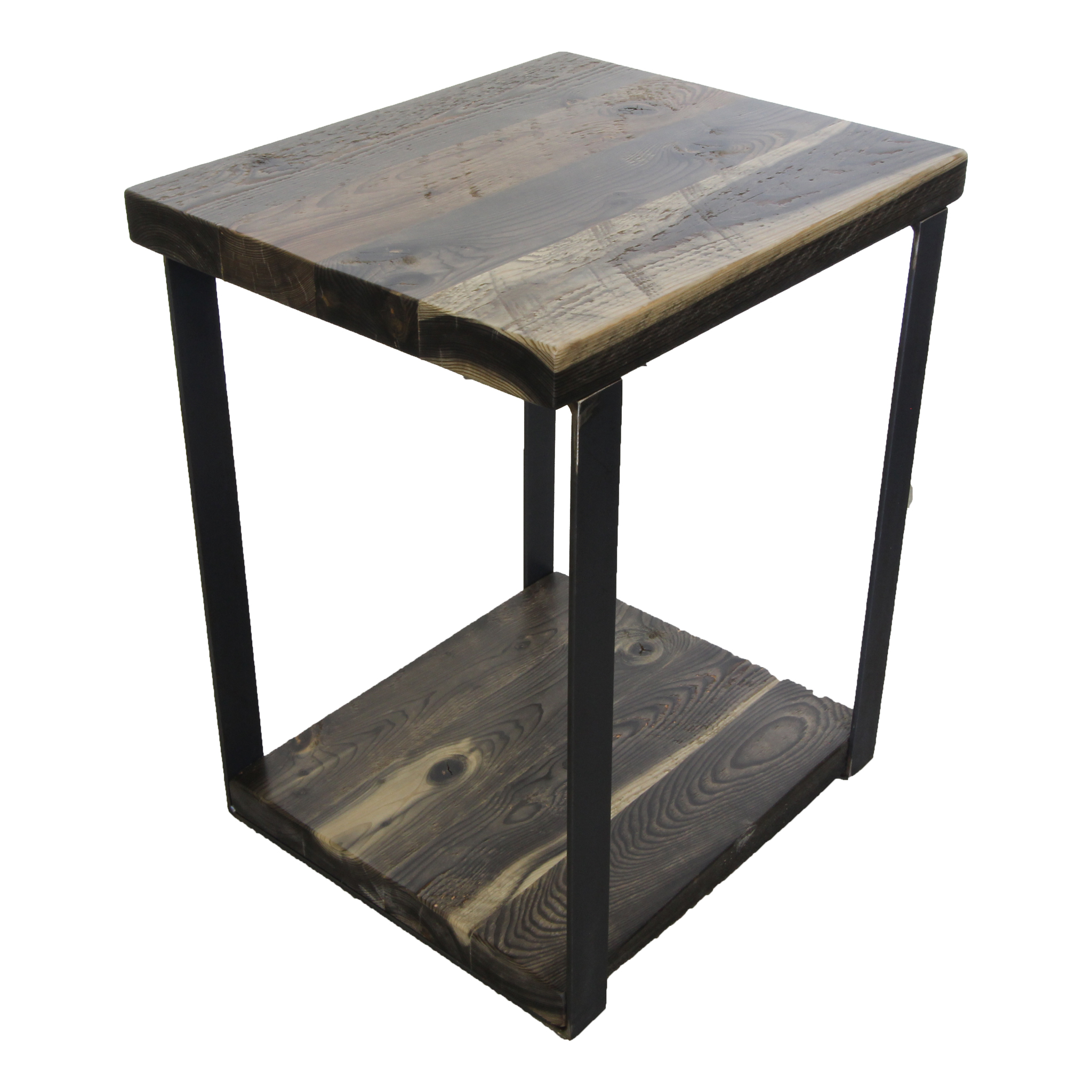 Industrial Contemporary Metal And Wood Nightstand