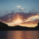Lake Powell at sunset