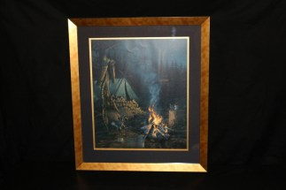 Native American hunting camp print by Michael Sieve.
