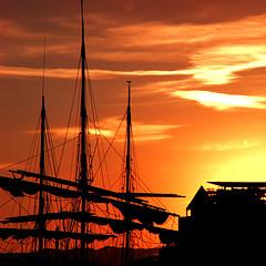 pirate sunset