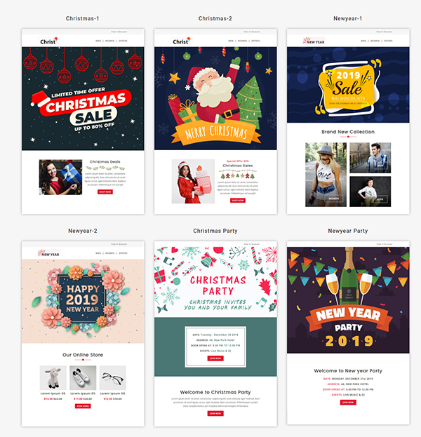 Christmas- Responsive Email Template + Stampready Builder