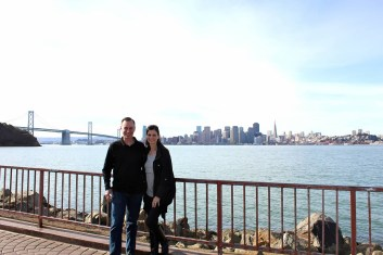 me and my honey visiting our old stomping ground, 20 years later.