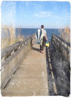bridges over sand dunes. i love this on in the Navy base at Damneck, VA Beach. I also love pics of my kids from behind.