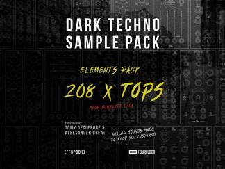 Dark Techno Sample Pack Elements - 212x Tops - Royalty Free