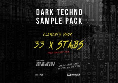 Dark Techno Sample Pack Elements - 136x Stabs - Royalty Free