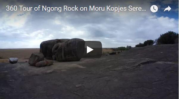 360 Tour of Ngong Rock on Moru Kopjes Serengeti