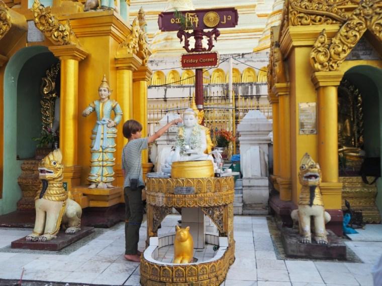 Washing the Buddha at the Shwedagon